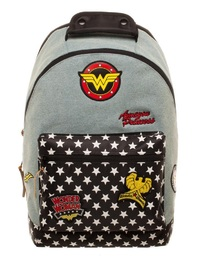 DC Comics: Wonder Woman - Denim Backpack with Patches