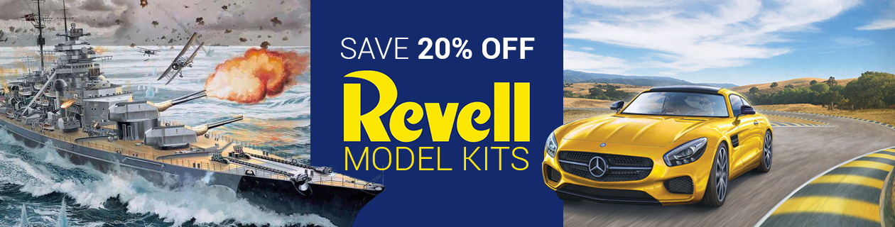 20% off Revell kits