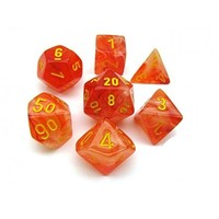 Chessex: D7 Ghostly Glow Dice Set - Orange/Yellow