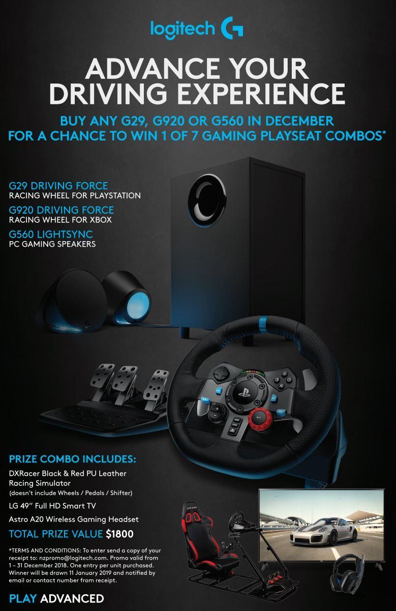 Logitech G920 Feedback Racing Wheel Xbox One Pc Xbox One On