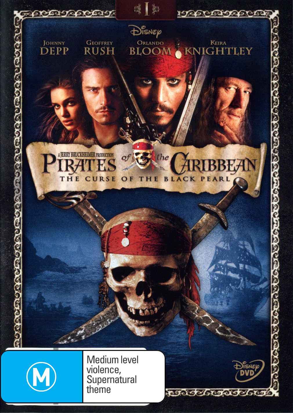 Pirates of the Caribbean - The Curse of the Black Pearl on DVD image