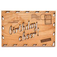 Cardtorial Wooden Card - Birthday Airmail