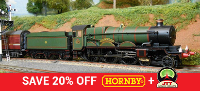 Save 20% off Hornby & JTT!