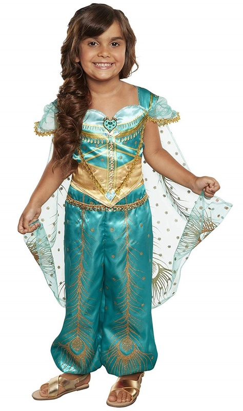 Disney's Aladdin: Princess Jasmine - Peacock Costume (Teal & Gold)