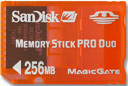 SanDisk 256MB MS Pro Duo Gaming Memory Card