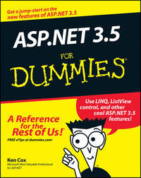 ASP.NET 3.5 For Dummies by Ken Cox image