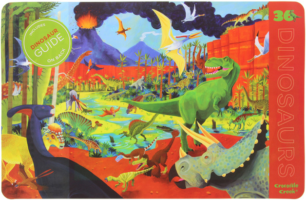 Crocodile Creek 2-Sided Placemat - Dinosaurs