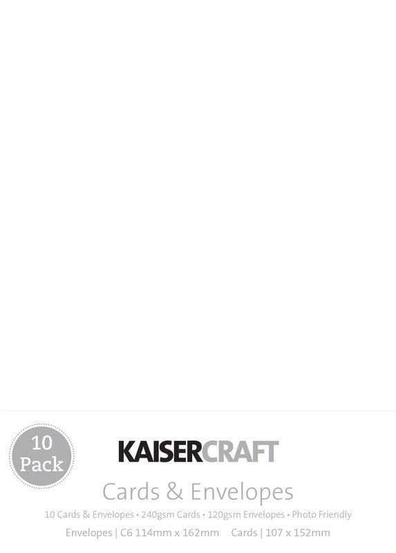 Kaisercraft: Small Card and Envelope 10 Pack - White
