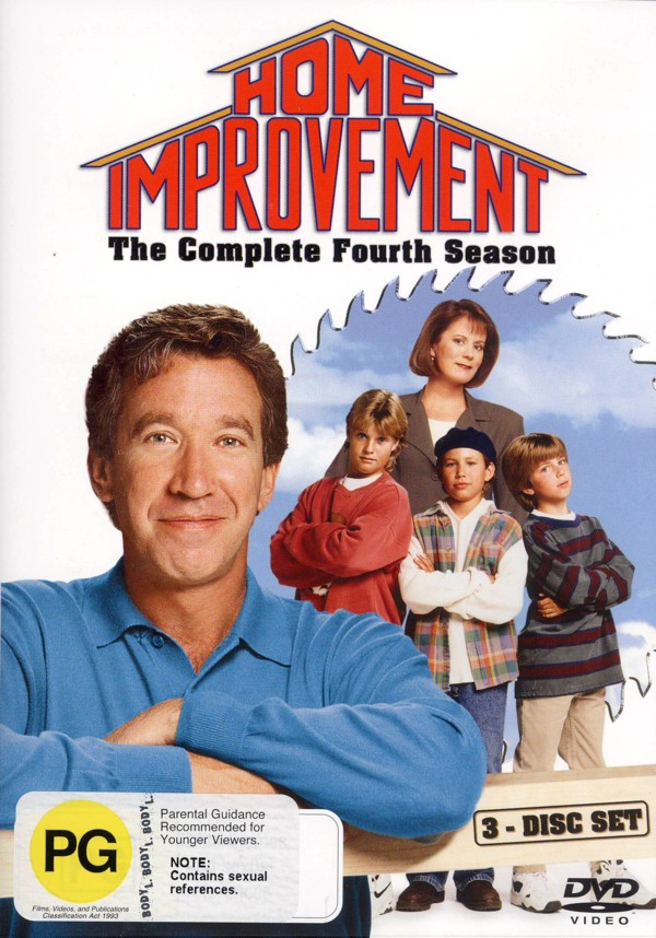 Home Improvement - Complete Season 4 (3 Disc Set) on DVD image