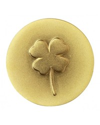 Gold Cloverleaf On Keepsake Coin