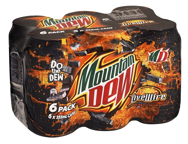 Mountain Dew Live Wire Cans 355ml 24pk