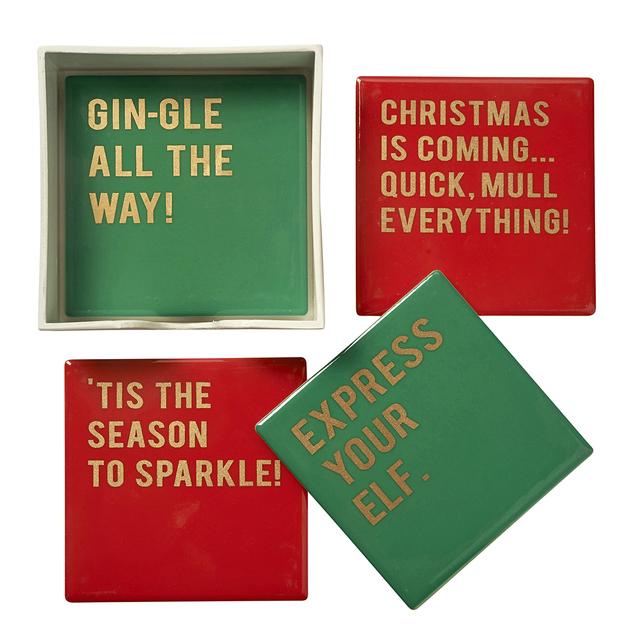 Set of 4 Christmas Coasters