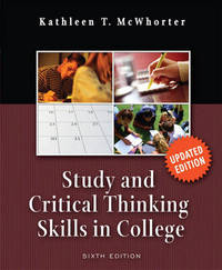 Study and Critical Thinking Skills in College by Kathleen T McWhorter image