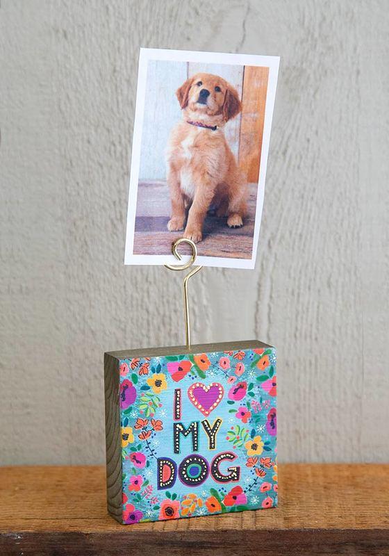 Natural Life: Photo Holder - I Heart My Dog
