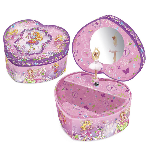 Peco Fairy Heart Shape Musical Jewellery Box Toy at Mighty Ape NZ