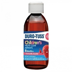 Duro-Tuss Child Ivy Leaf Liquid - Strawberry (200ml Bottle)