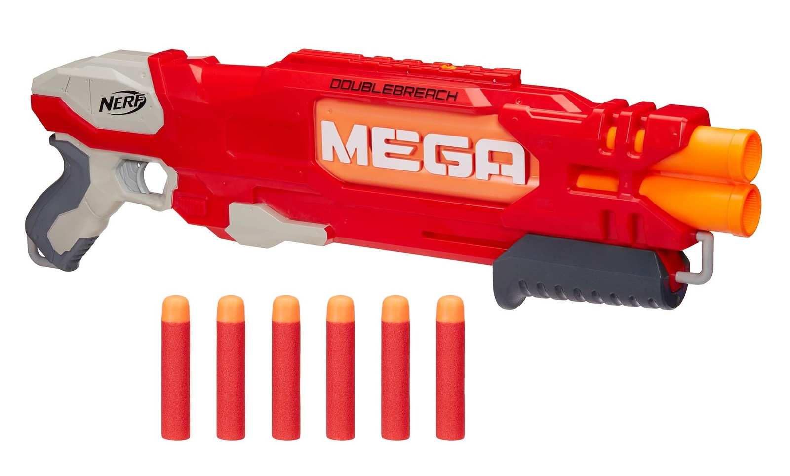 nerf n strike elite mega double breach blaster toy at mighty ape nz. Black Bedroom Furniture Sets. Home Design Ideas