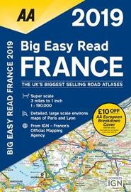 AA Big Easy Read Atlas France 2019 by AA Publishing