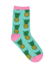 Kid's (7-10 Years) Pineapple Crew Socks - Mint