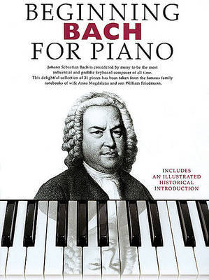 Beginning Bach for Piano by Music Sales