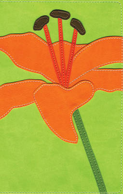 NIV, Bloom Collection Bible, Leathersoft, Green/Pink, Red Letter Edition by Zondervan Publishing image