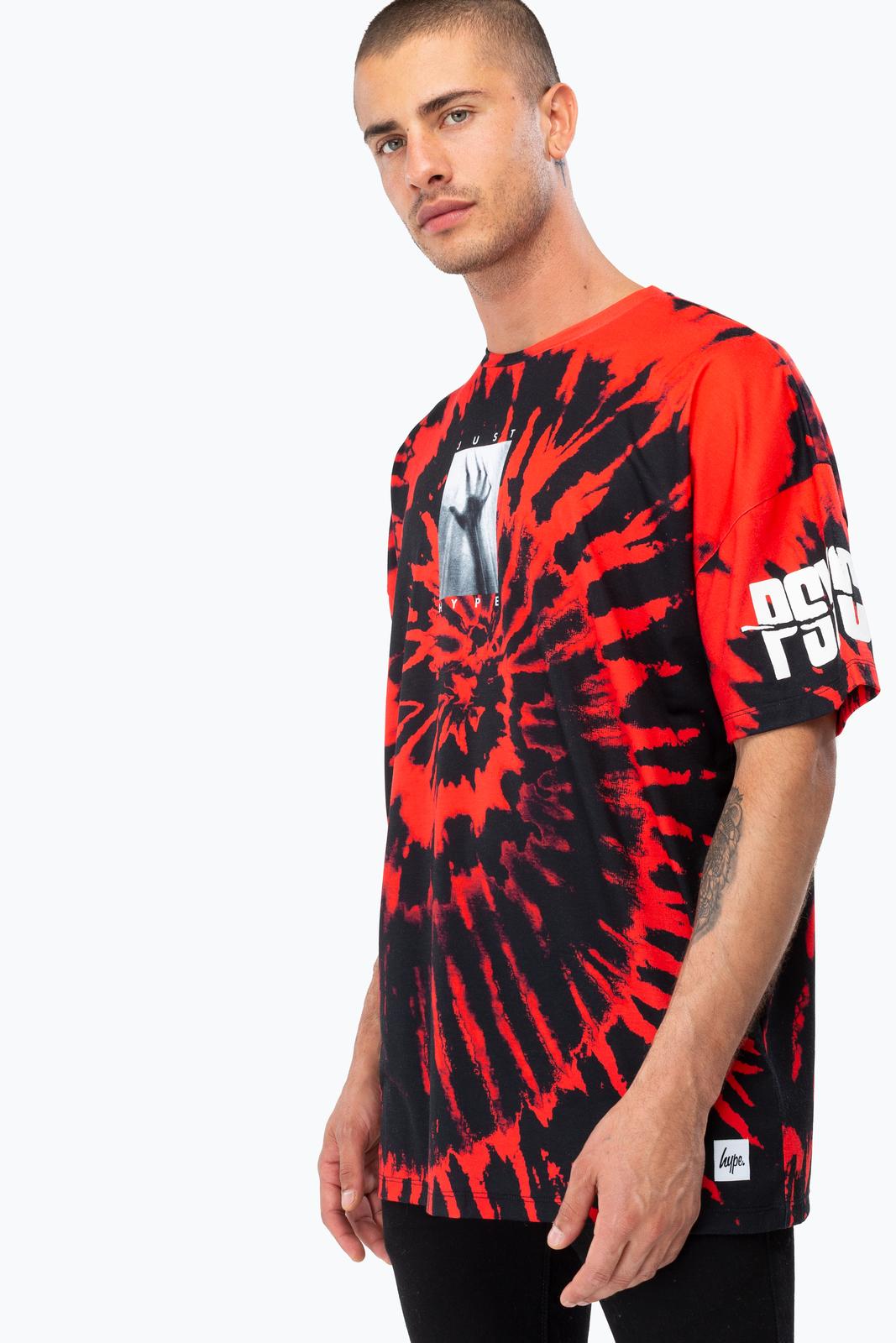 Just Hype: Men's Oversized T-Shirt- Psycho Tie Dye L image