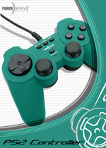 Powerwave Controller Solid Green for PlayStation 2