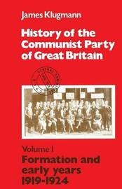 History of the Communist Party of Great Britain: v.1 by James Klugmann image