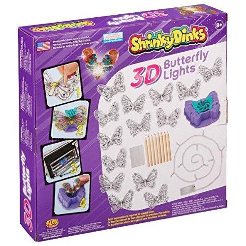 Alex: Shrinky Dinks - 3D Butterfly Lights image