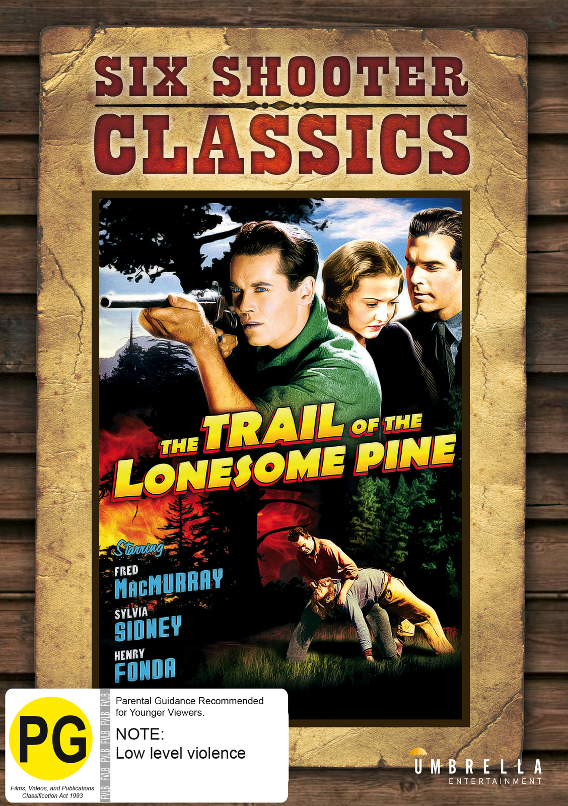 Trail Of The Lonesome Pine (Six Shooter Classics) on DVD image