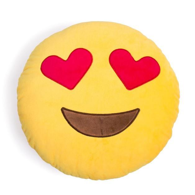 Heart Eyes Emoji Cushion - 34cm