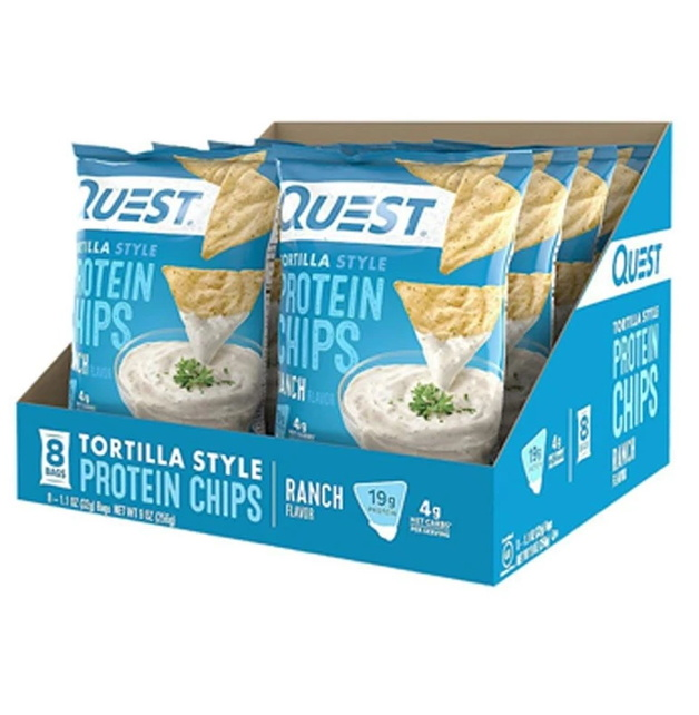 Quest Protein Tortilla Chips - Ranch (8 Bags)