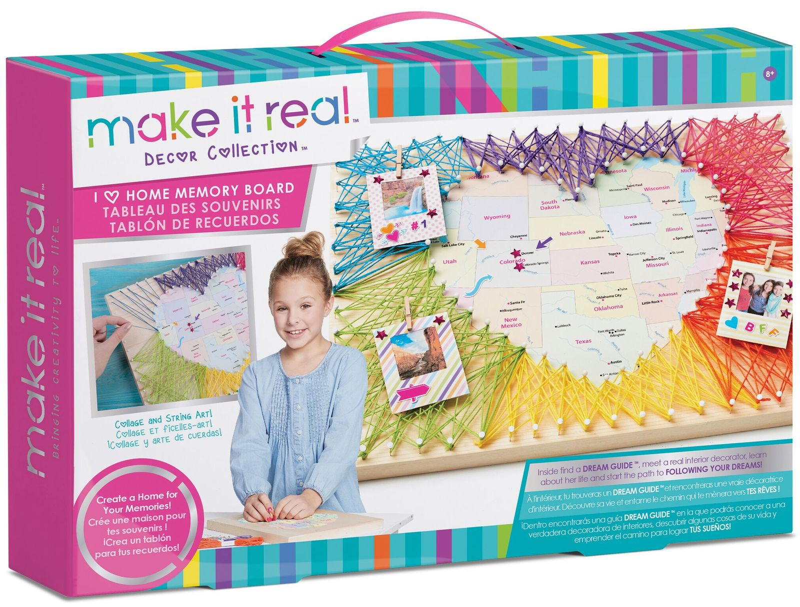 "Make it Real - I ""Heart"" Home Memory Board image"