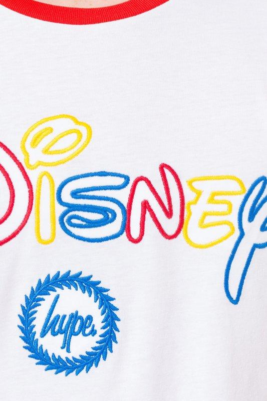 Just Hype: Disney Colourblock Kids T-Shirt - White/Multi - 11-12y