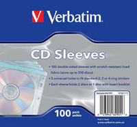 Verbatim CD/DVD sleeves 100 pack image