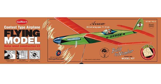 """Arrow 28"""" Wingspan Balsa Model Kit"""