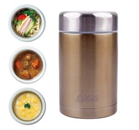 Insulated Stainless Steel Food Flask - 450ml (Champagne)
