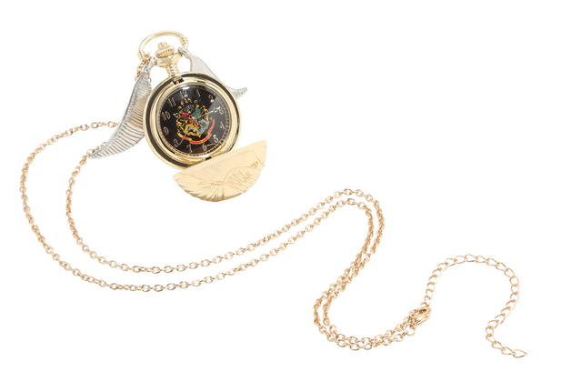 Harry Potter: Golden Snitch Pocket Watch Necklace