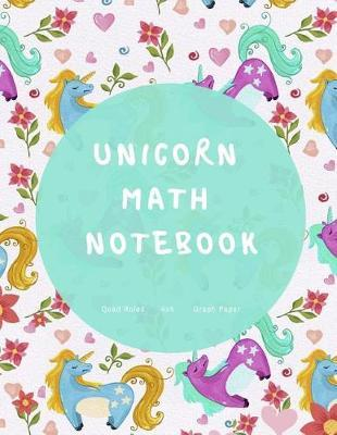 Unicorn Math Notebook by Graph Paper Source