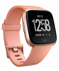 Fitbit Versa Smart Fitness Watch - Peach Rose Gold image