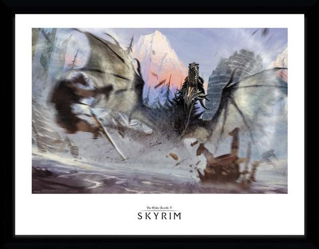 Skyrim: Alduin - Collector Print (41x30.5cm)