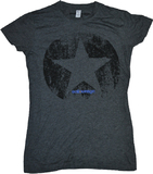 Entourage Distressed Star Charcoal Women's T-Shirt (Medium)