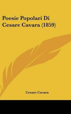 Poesie Popolari Di Cesare Cavara (1859) by Cesare Cavara image