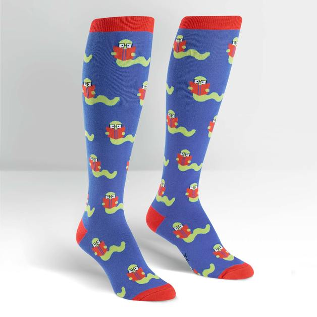 SOCK it to Me: Womens - Bookworm Knee High Socks