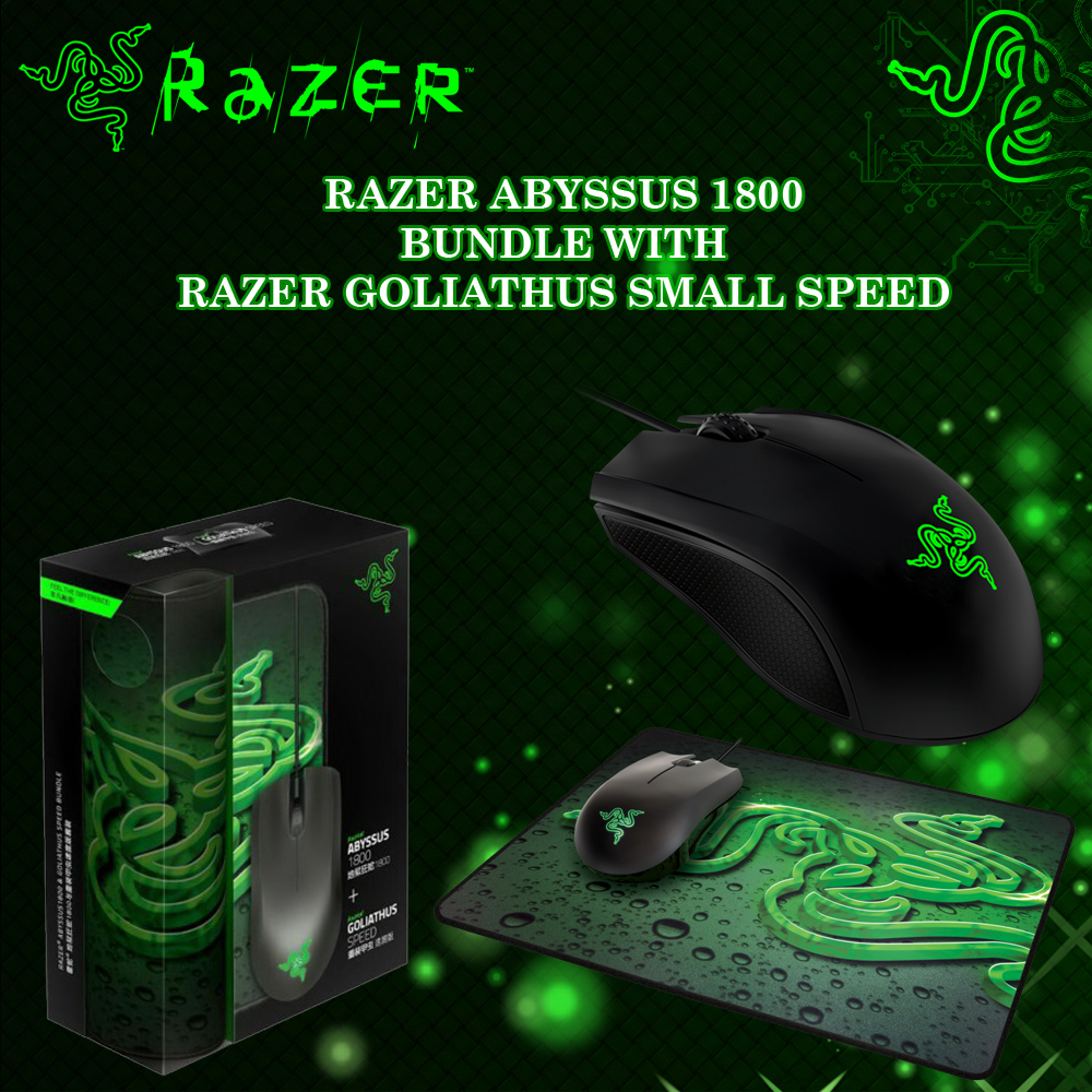 Razer Abyssus Gaming Mouse + Goliathus Mouse Mat image