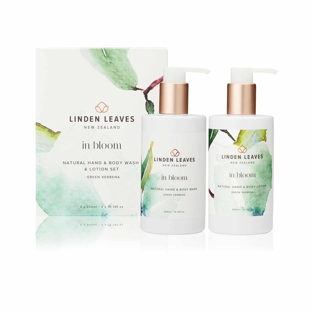 Linden Leaves In Bloom Hand + Body Wash and Lotion Set - Green Verbena (2x300ml)