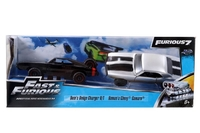 Jada FF Twin Pack: Dodge Charger and Roman's Chevy Camaro 1:32 Diecast Models