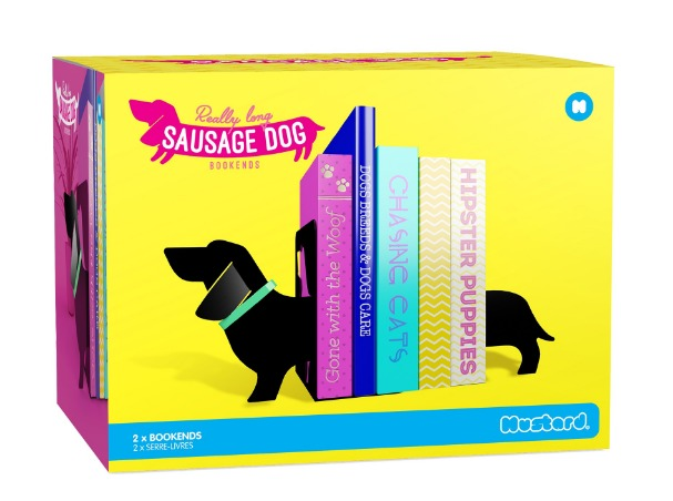 Mustard: Really Long Sausage Dog - Bookends image