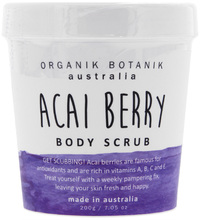 Organik Botanik Body Scrub Tub - Acai Berry (200gm)