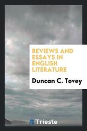 Reviews and Essays in English Literature by Duncan C. Tovey image